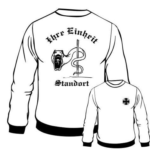 Sweatshirt beidseitig bedruckt, Motiv: BW_026
