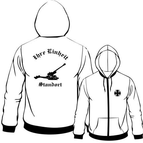 Hooded Sweat Jacket beidseitig bedruckt, Motiv: BW_002