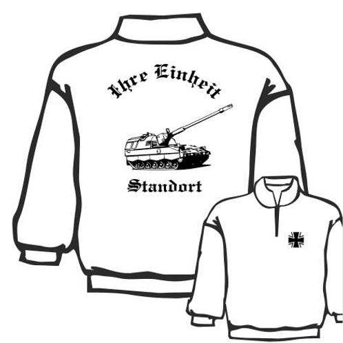 Zip Neck Sweatshirt beidseitig bedruckt, Motiv: BW_004