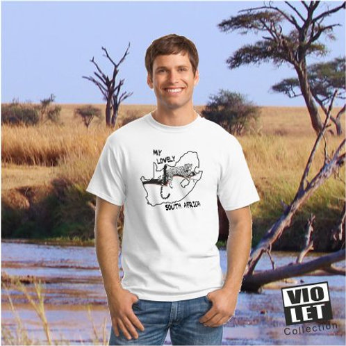 Unisex Piqué Shirt weiß mit South Africa - Motiv