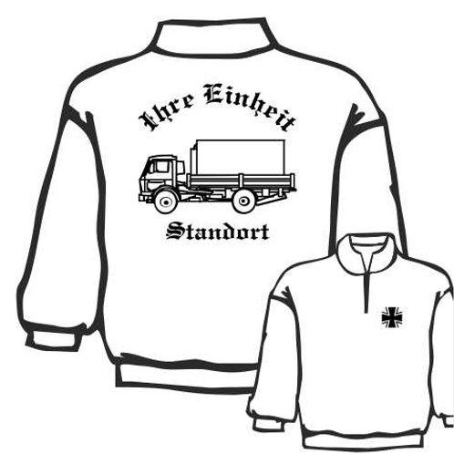 Zip Neck Sweatshirt beidseitig bedruckt, Motiv: BW_017