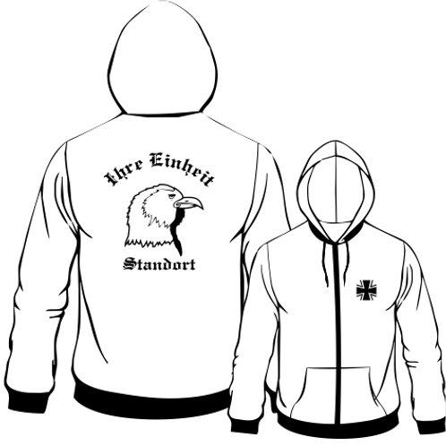 Hooded Sweat Jacket beidseitig bedruckt, Motiv: BW_020