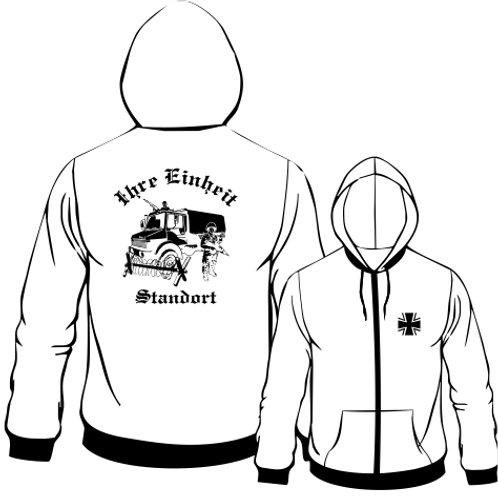 Hooded Sweat Jacket beidseitig bedruckt, Motiv: BW_053