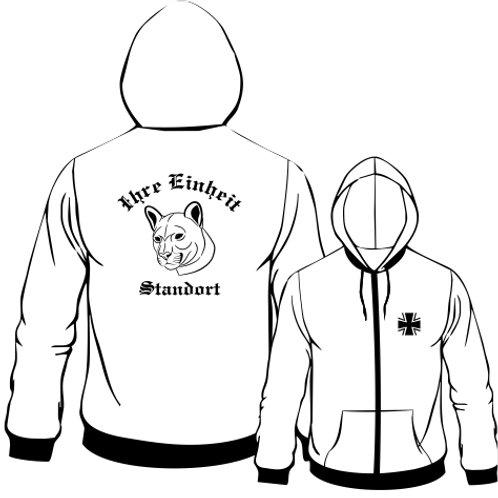 Hooded Sweat Jacket beidseitig bedruckt, Motiv: BW_054