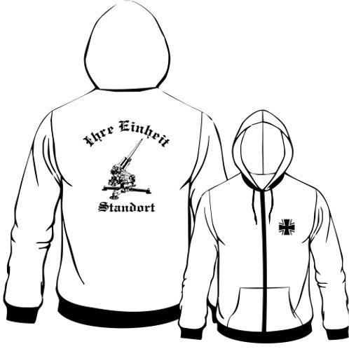 Hooded Sweat Jacket beidseitig bedruckt, Motiv: BW_047