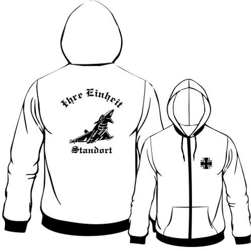 Hooded Sweat Jacket beidseitig bedruckt, Motiv: BW_049