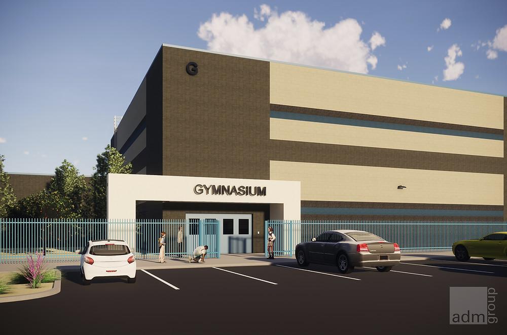 Conceptual Rendering of Exterior Gymnasium