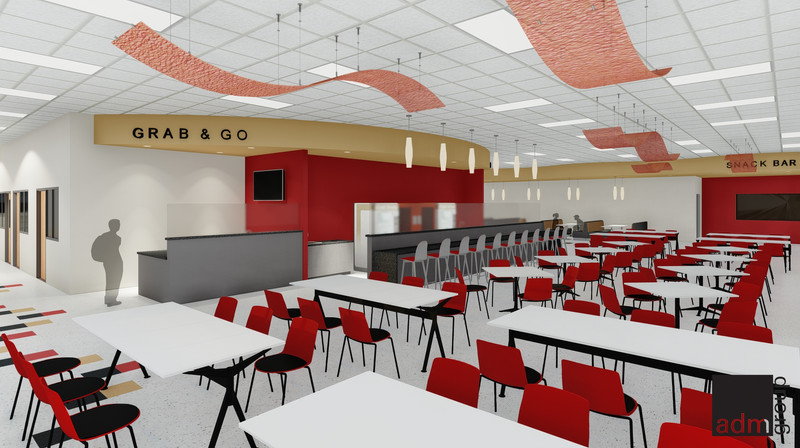 Cafeteria View - Serving Area