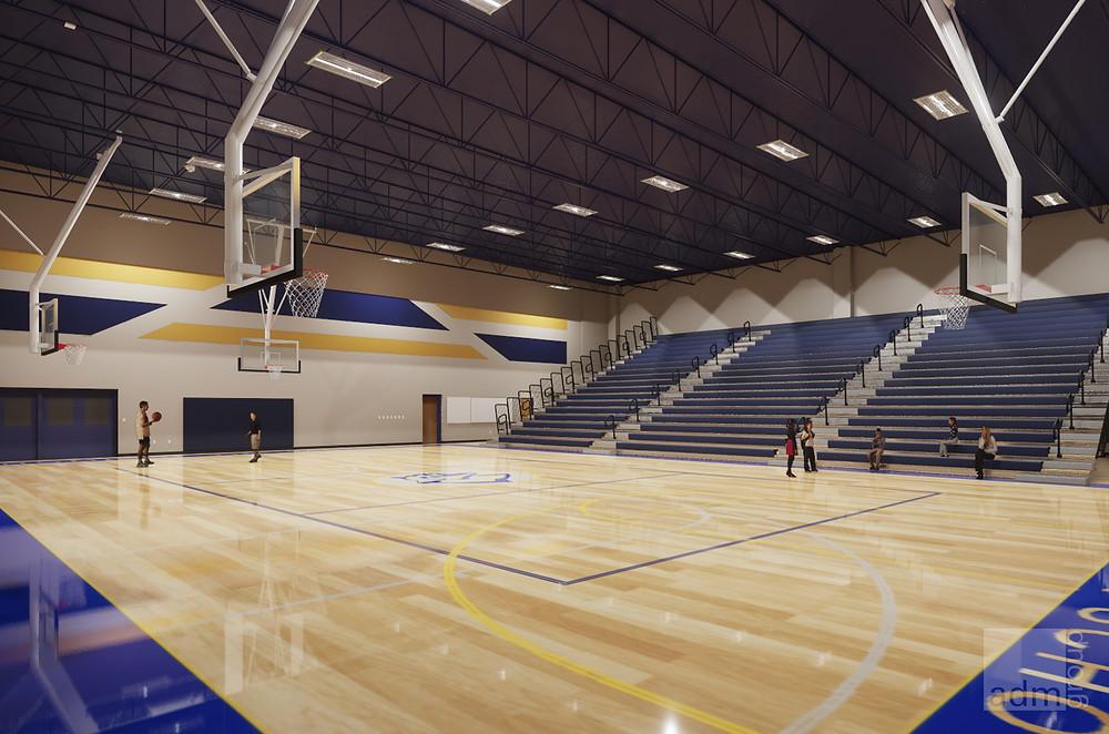 Conceptual Rendering of Interior Gymnasium