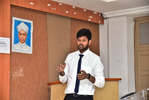 Amrit Jena (Btech Scholar) presenting his work in ICPCM 2019
