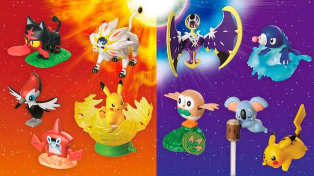 Bonecos de Pokémon Sun e Pokémon Moon desembarcam no McDonald's