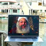 Santa by the docks