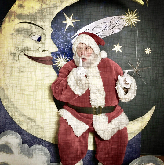 Santa over the Moon