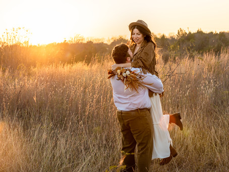 Jake & Summer's Vows in a Field