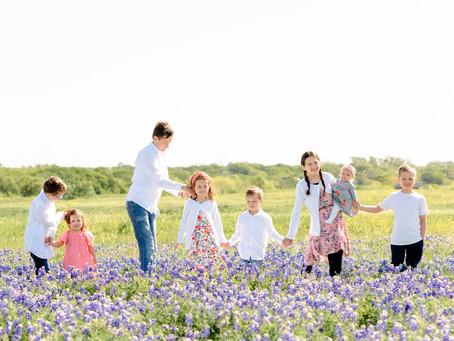 Lopez Children in the Bluebonnets, Irving, Texas
