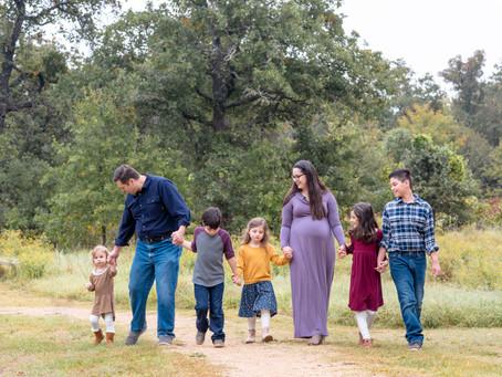 Alejandro & Briana's Fall Family Session, Bob Jones Nature Preserve