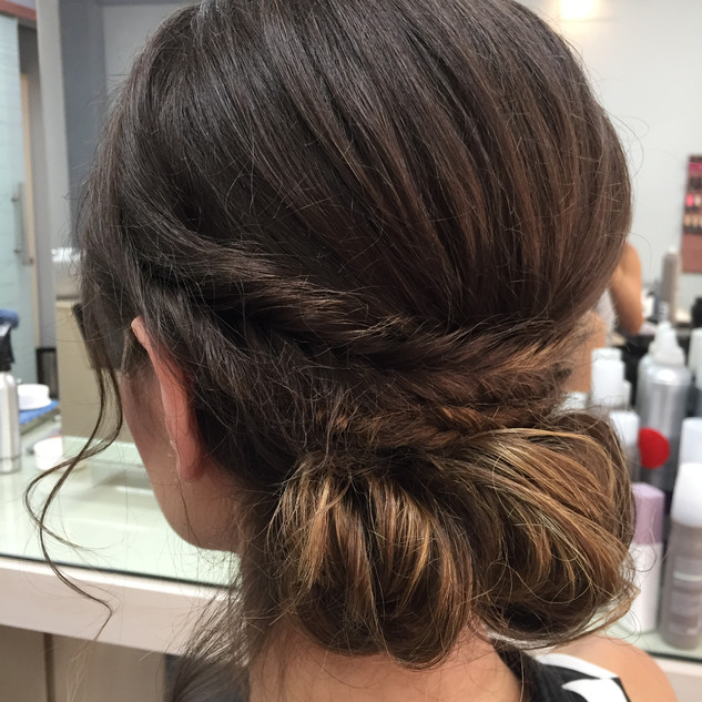 MESSY BRAIDED UP DO