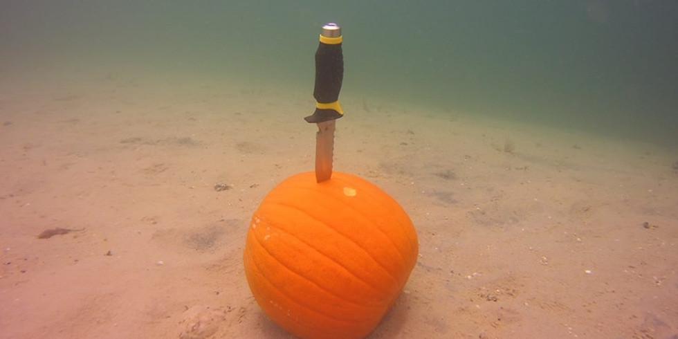 Underwater Pumpkin Carving!!  October 14, 2018