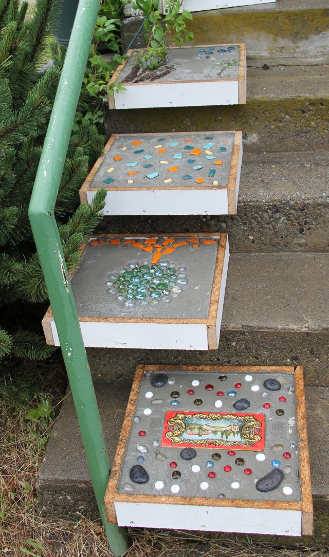 Freshly made stepping stones