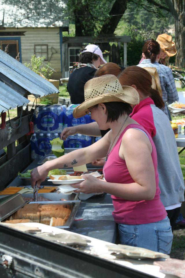 Cowgirl Food Line. - 1jpg