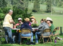 Lou Ratcliffe Teaching a Growing Herbs Class
