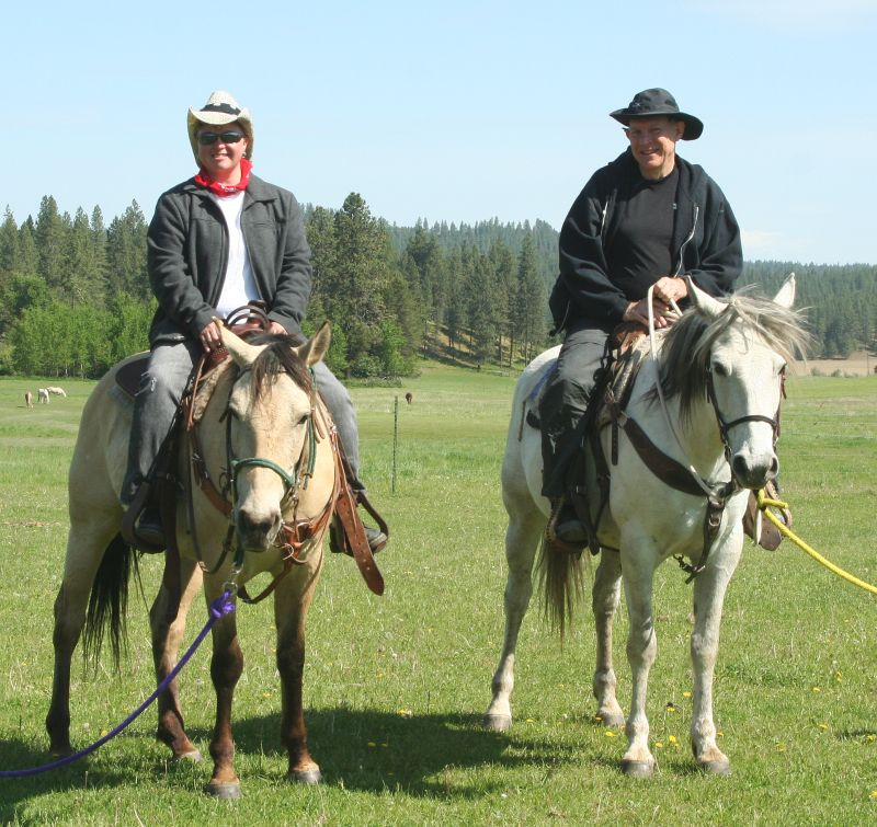 Father daughter veterans on horseback - 1