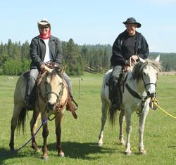 Father daughter veterans on horseback - 1