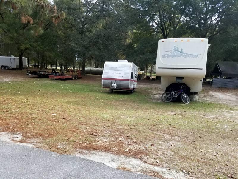 Camper, trailer storage