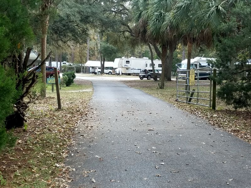 Entering Old Town Campground
