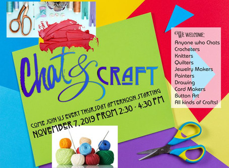 Chat & Craft Starting Soon!