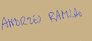 autograf Andrzej Ramlau