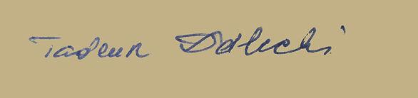 autograf Tadeusz Dolecki właściciel domu Kargula