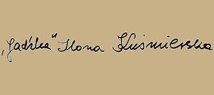 Ilona Kuśmierska autograf