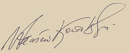 autograf Wacław Kowalski