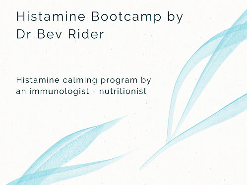 Histamine Bootcamp