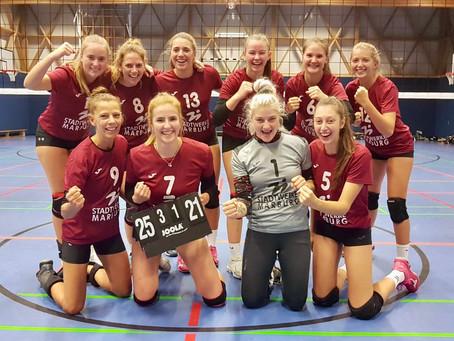Volleys beenden die lange Oberligaspielpause mit 3:1 Sieg in Hünfeld