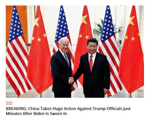 BREAKING: China Takes Huge Action Against Trump Officials Just Minutes After Biden Is Sworn In.