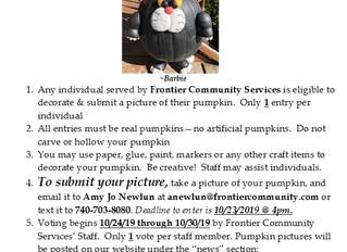 2019 Happy Harvest Jack-O'-Pumpkin  Decorating Contest