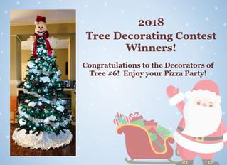 2018 Tree Decorating Contest Winner!