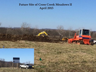 We've Broken-Ground on a 2nd Phase of Cross Creek Meadows in Chillicothe!