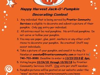 2018 Happy Harvest Jack-O'-Pumpkin Decorating Contest