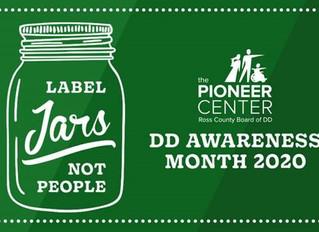 March 2020:  Developmental Disabilities Awareness Month