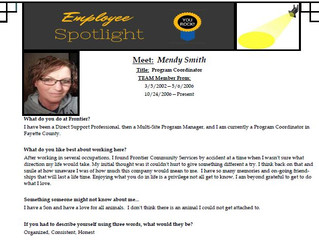 Employee Spotlight:  Mendy Smith