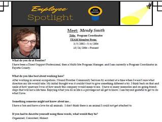 Employee Spotlight:  Mendy Smith