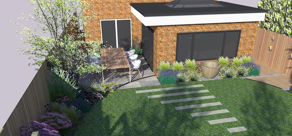 Small Garden With Circular Lawn Frances Hunt Garden Design