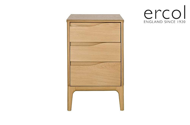 Ercol Rimini 3 Drawer Compact Bedside Table
