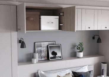 Hepplewhite Kingsbury overbed cupboard in White Ash