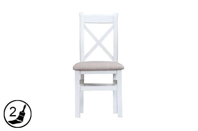 Settle Cross Back Chair Fabric Seat
