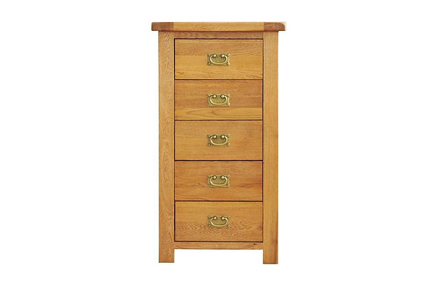 Rustic Charm 5 Drawer Tall Wellington Chest