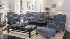 Versailles Grand Sofa, Fabric Wing Chair & Fabric Armchair | Gordon Busbridge Furniture & Beds Store | Hastings, Eastbourne, St Leonards on Sea, Bexhill & Seaford